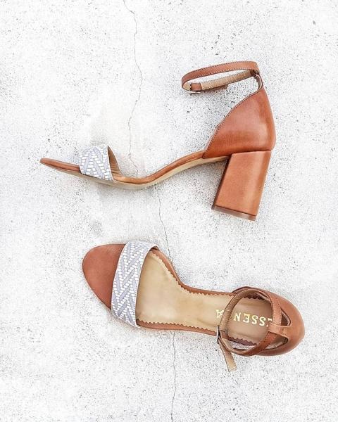 Sandale din piele maron [0]