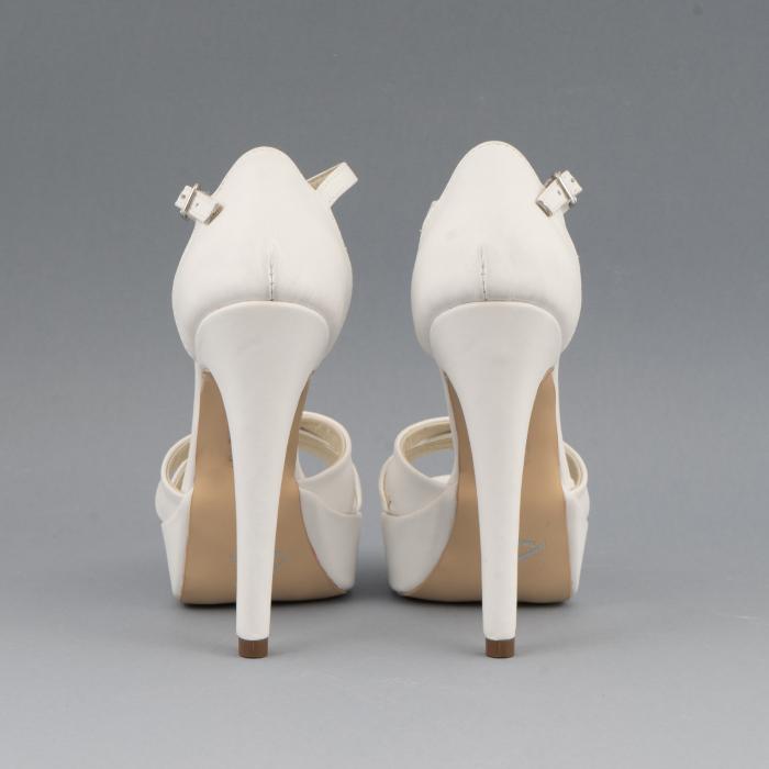 Sandale din piele naturala, alb unt 3