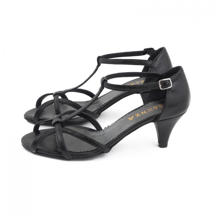 Sandale din piele naturala neagra 1