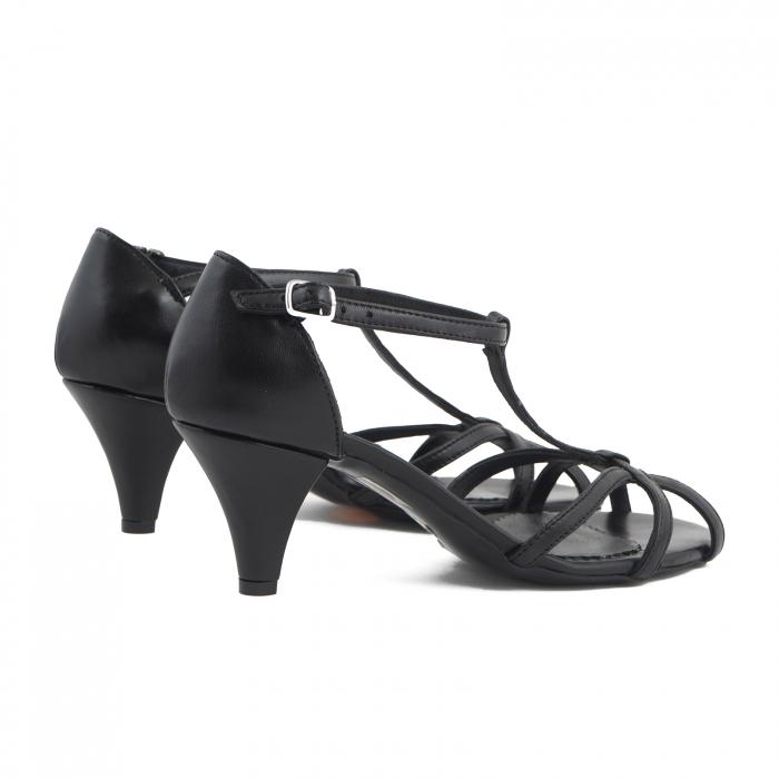 Sandale din piele naturala neagra 3