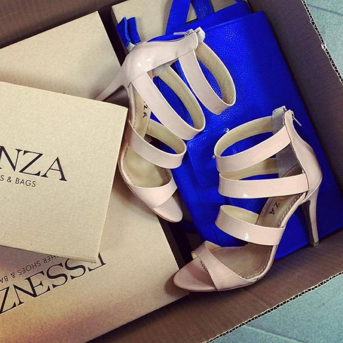 Sandale din piele roz-pal lacuita 0