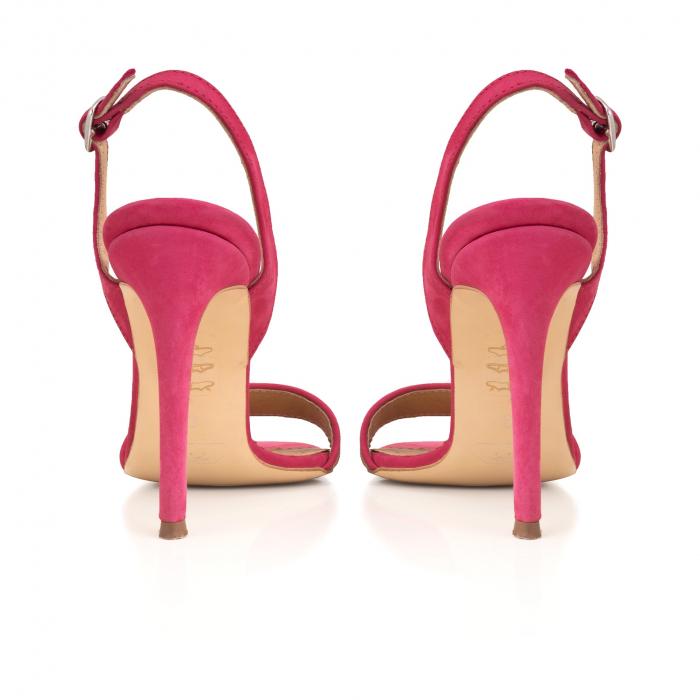 Sandale elegante din piele intoarsa neagra si animal print. [3]