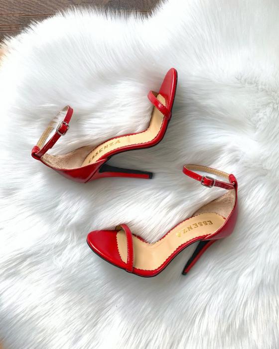 Sandale elegante, din piele naturala rosie [2]