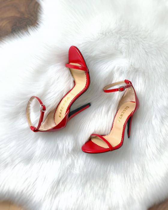 Sandale elegante, din piele naturala rosie [0]
