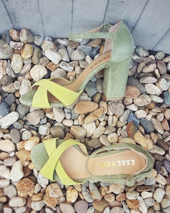 Sandale kaki si galben lime [1]