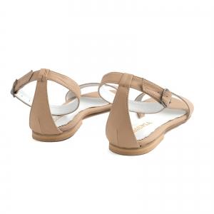 Sandale cu talpa joasa, din bej [2]