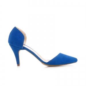 Pntofi stiletto decupati, albastru intens [0]