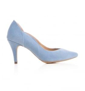 Pantofi stiletto din piele albastra intoarsa0