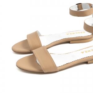 Sandale cu talpa joasa, din bej [3]