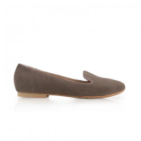Pantofi confortabili si foarte usori, relizati din piele naturala intoarsa cafenie0