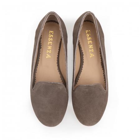 Pantofi confortabili si foarte usori, relizati din piele naturala intoarsa cafenie2