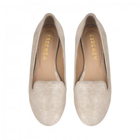 Pantofi confortabili si foarte usori, relizati din piele naturala bej aurie2