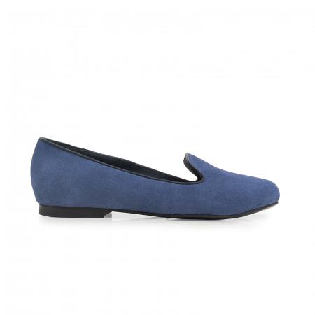 Pantofi confortabili si foarte usori, relizati din piele naturala intoarsa albastra [0]