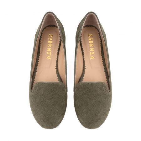 Pantofi confortabili si foarte usori, relizati din piele naturala intoarsa kaki2