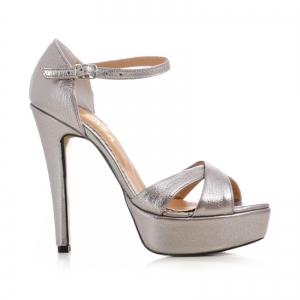 Sandale din piele argintie platina [0]