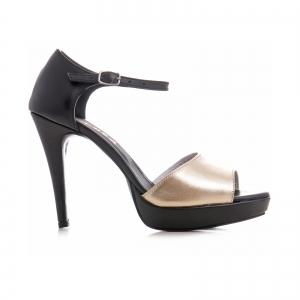 Sandale din piele neagra si auriue [0]