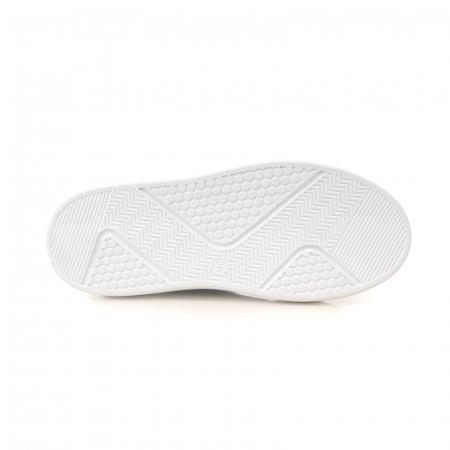 Ghete cu talpă groasă, realizate din piele naturală intoarsa, kaki cu perforatii5