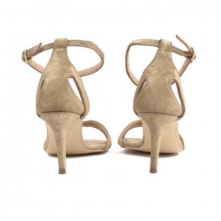 Sandale din piele glitter aurie3