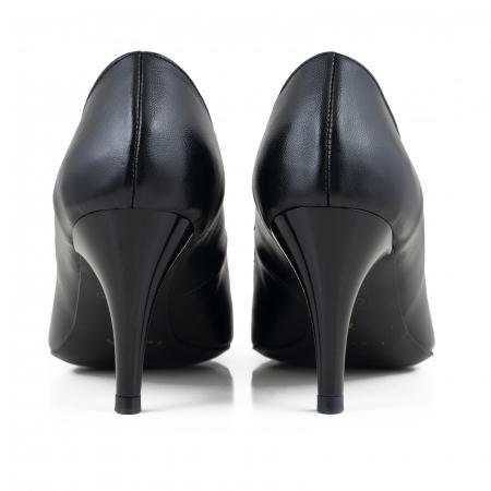 Pantofi stiletto din piele naturala neagra2