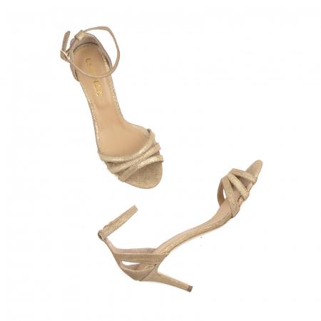 Sandale din piele glitter aurie4