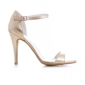 Sandale din piele aurie0