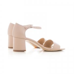 Sandale din piele naturala nude roze2