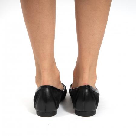 Balerini confortabili si foarte usori, relizati din piele naturala normala si intoarsa, neagra5