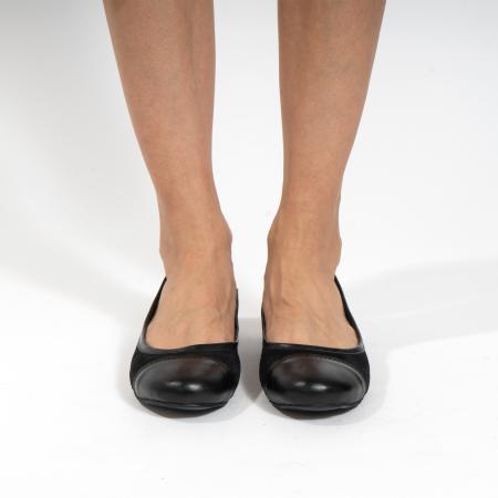 Balerini confortabili si foarte usori, relizati din piele naturala normala si intoarsa, neagra2