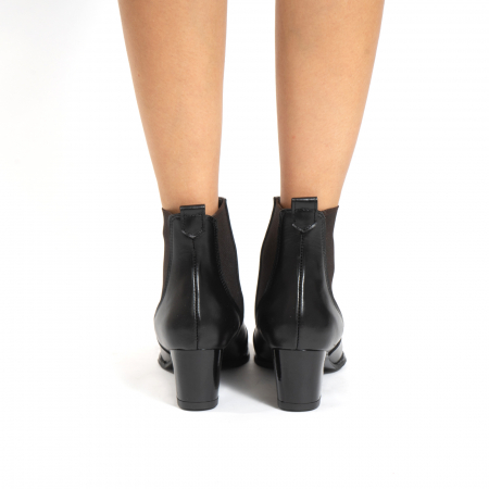 Ciocate scurte,  cu elastic, din piele naturala neagra4