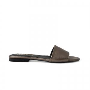 Flip flops din piele laminata bronz0