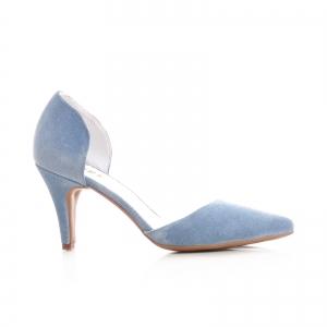Pantofi din piele intoarsa albatru baby blue0