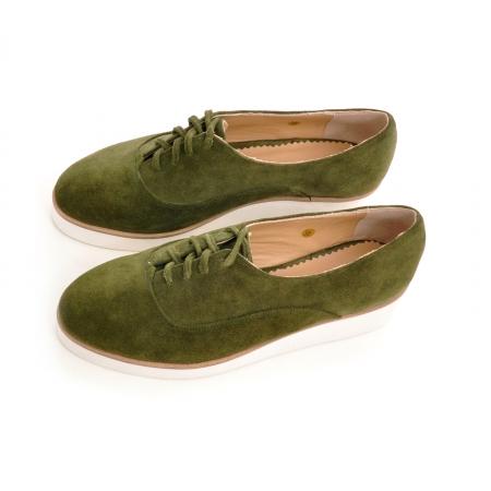 Pantofi oxford, din piele intoarsa vernil2
