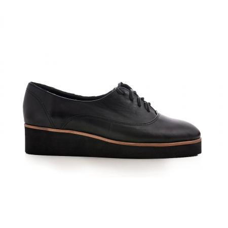 Pantofi oxford, din piele naturala neagra [0]