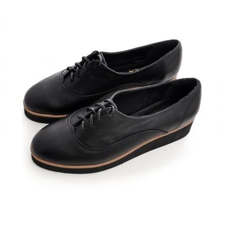 Pantofi oxford, din piele naturala neagra [2]