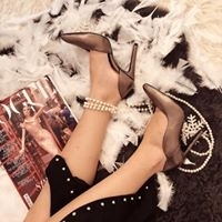 Pantofi stiletto, cu decupaj interior, din piele bronz3