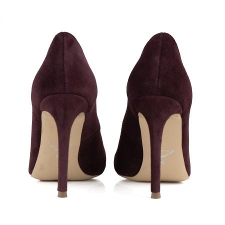 Pantofi Stiletto din piele intoarsa mov3