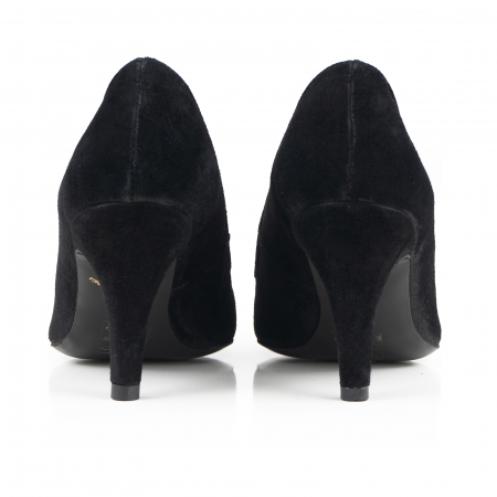 Pantofi stiletto din piele intoarsa neagra3