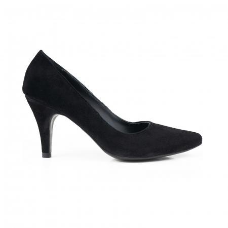 Pantofi stiletto din piele intoarsa neagra0