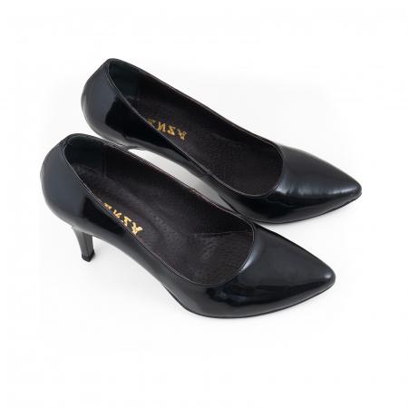 Pantofi stiletto din piele lacuita neagra3