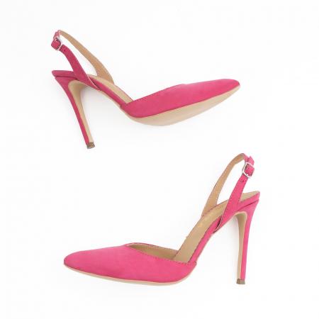 Pantofi stiletto din piele nabuc roz ciclam2