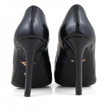 Pantofi Stiletto din piele naturala neagra3