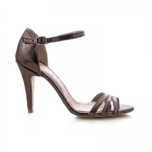 Sandale cu barete, din piele laminata bronz [0]