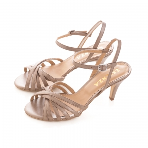 Sandale cu barete, din piele naturala bronz sidef [1]