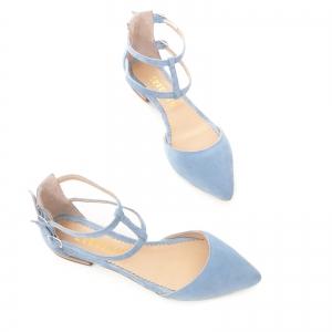 Sandale cu varf ascutit , albastru -seren3