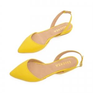 Sandale cu varf ascutit , galben lamaie2