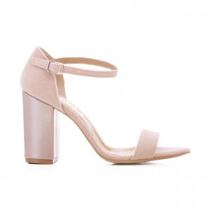 Sandale din catifea si piele lacuita [0]