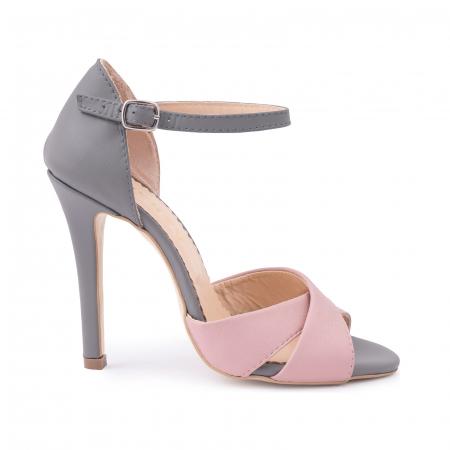 Sandale din piele intoarsa mov-pruna [0]