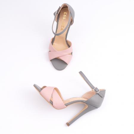 Sandale din piele intoarsa mov-pruna [3]