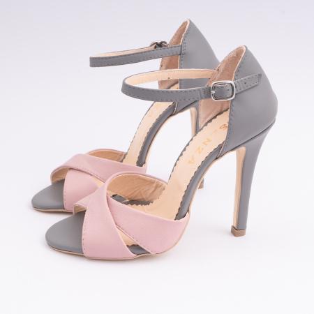Sandale din piele intoarsa mov-pruna [1]