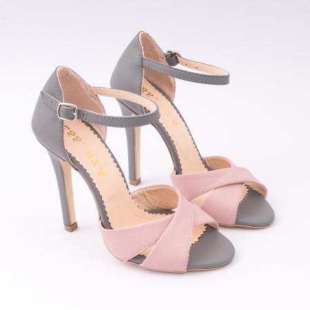 Sandale din piele intoarsa mov-pruna [2]